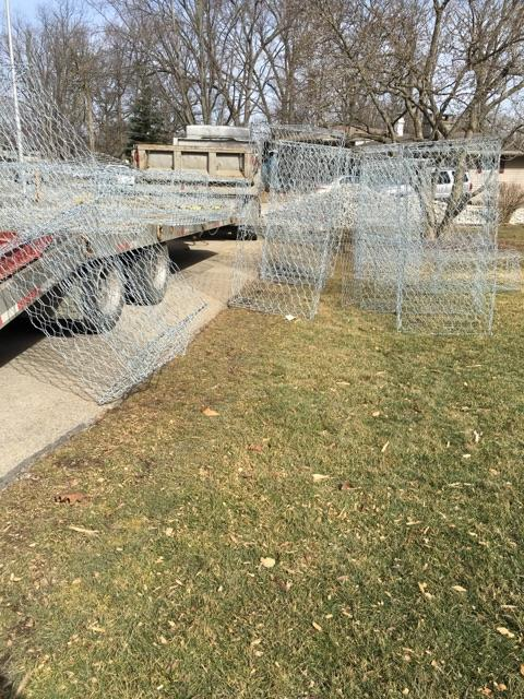 Install gabions at Kramer Ditch in Ft Wayne