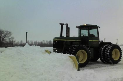 We offer snow removal services